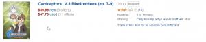 Amazon - CardCaptors Volume Price - 20140501