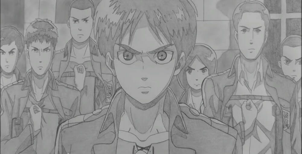 Anime Fan Recreates Attack on Titan & Sword Art Openings In Pencil, Epic Ensues