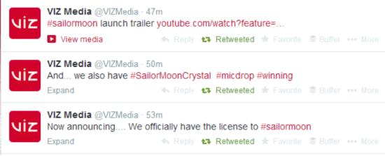 Sailor Moon - Announcement Tweets