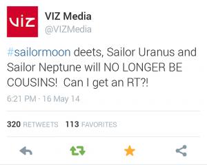 Sailor Moon - Cousins Tweet - 20140517