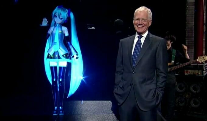 Hatsune Miku's Letterman Appearance Wows Fans, Baffles Mainstream