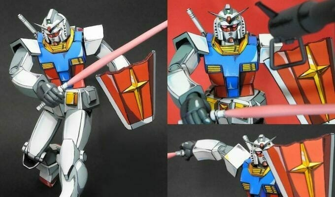 You're Looking At A Gundam Model, Not An Anime Cel