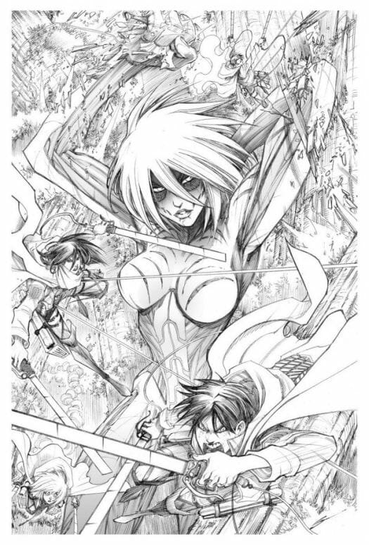 Attack on Avengers Female Titan Print - 20141114