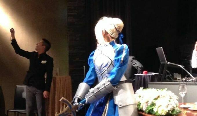 Newlyweds Host Cosplay Wedding Reception As Saber, Kamen Rider