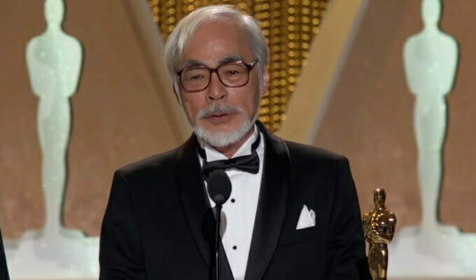Watch Hayao Miyazaki Receive His Honorary Oscar