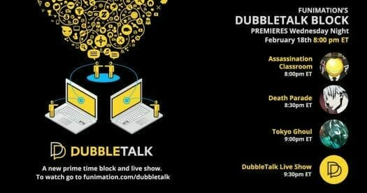 Dubbletalk will be a 30-minute streaming talk show by FUNimation and ScrewAttack.