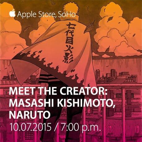 Masashi Kishimoto Apple Store Soho Promo - 20150929