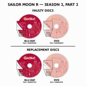 Sailor Moon R Disc Replacement Details