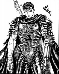 Guts in his Black Swordsman armor