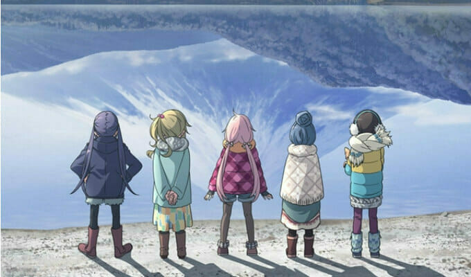 "New ""Yurucamp "" Anime Visual Heads to the Wilderness"