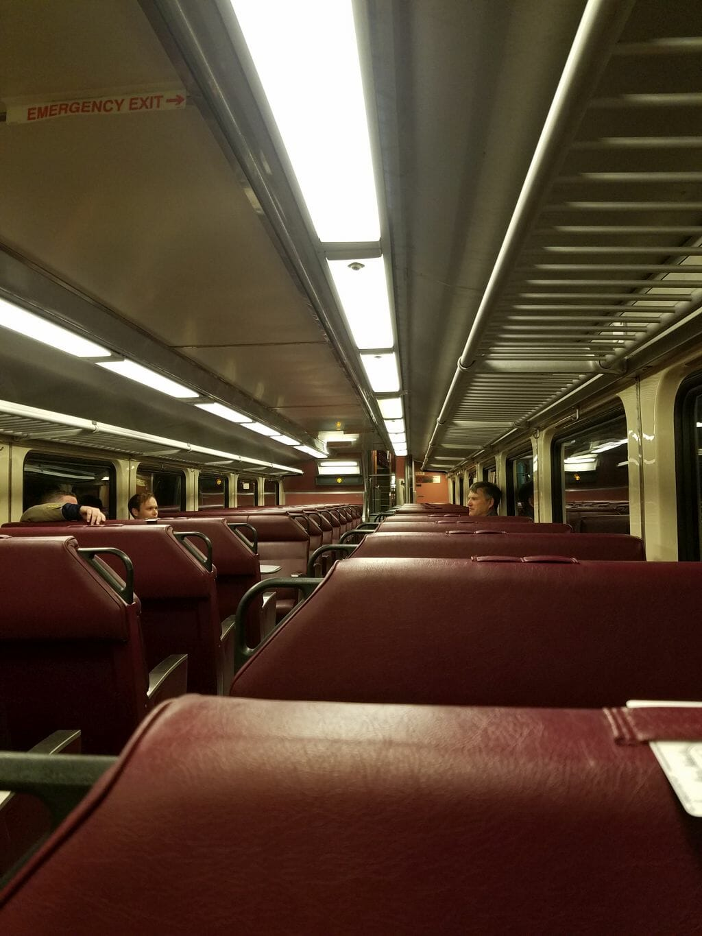 Anime Boston - Day Zero - A shot of the interior of the commuter rail to Boston on April 18, 2019