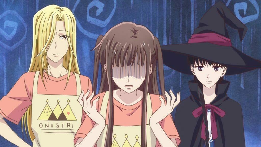 Fruits Basket (2019) Anime Still - Tohru with Arisa Uotani and Saki Hanajima