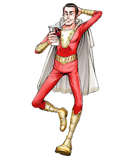 Shazam - Monkey Punch Illustration