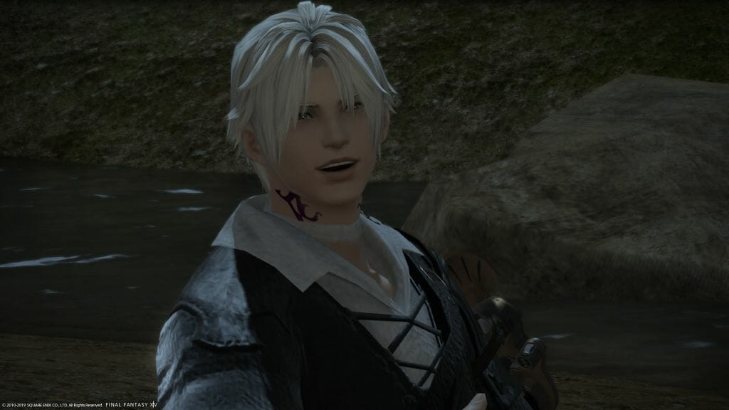 A shot of Thancred from Final Fantasy XIV