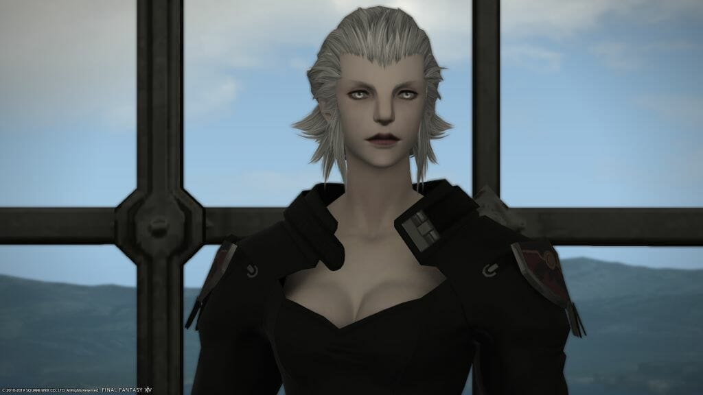Close-up shot of Merlwyb Bloefhiswyn in Final Fantasy XIV