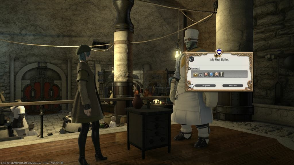 Skye Graneterre, a Duskwight Elezen, collects on a Culinarian quest in Final Fantasy XIV