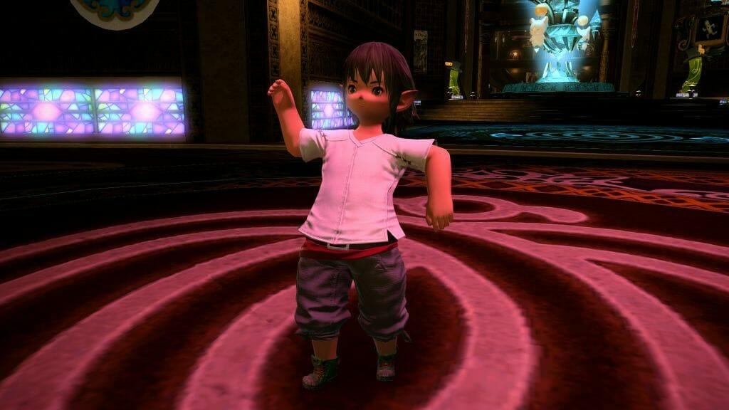 Nanaphon does the Sabotender Shuffle, in Final Fantasy XIV
