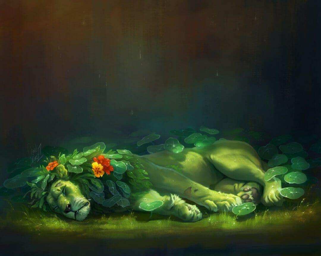 Devin Elle Kurtz - Creatures of the Leaves - The Lion