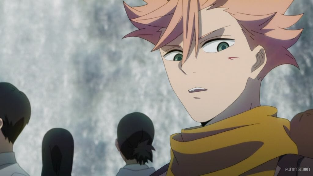 Id Invaded Episode 3 Still - Sakaido looks with disbelief at a wound on his face.