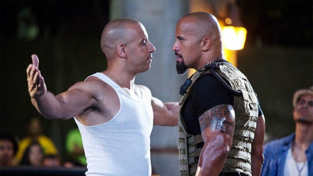 Vin Diesel and Dwayne Johnson clash