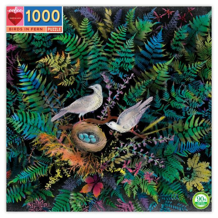 """Birds in Fern"" Jigsaw Puzzle"