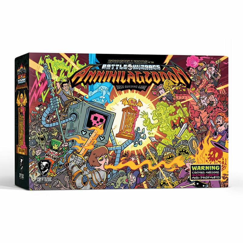 """Annihilageddon"" board game box art."