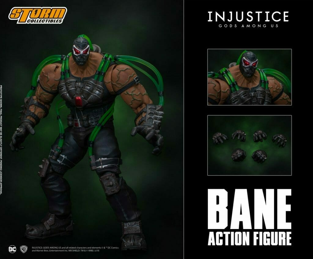 Advertisement for a Bane action figure