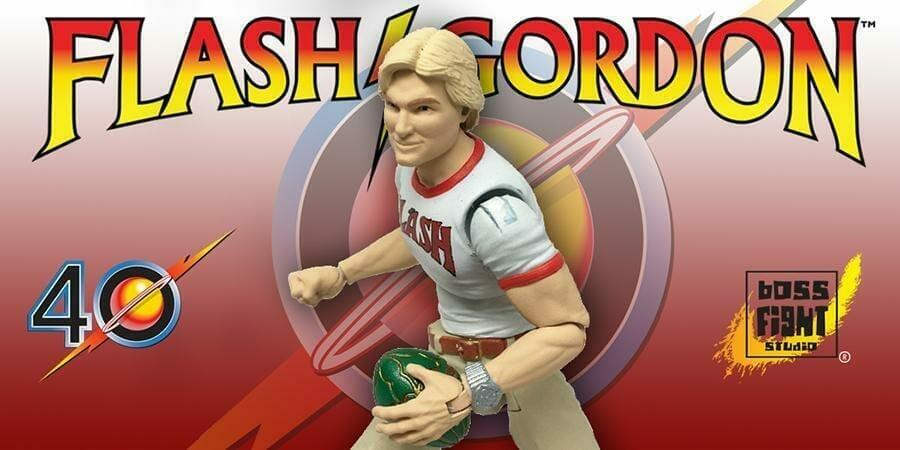 Advertisement for Boss Fight Studios' Flash Gordon Figure