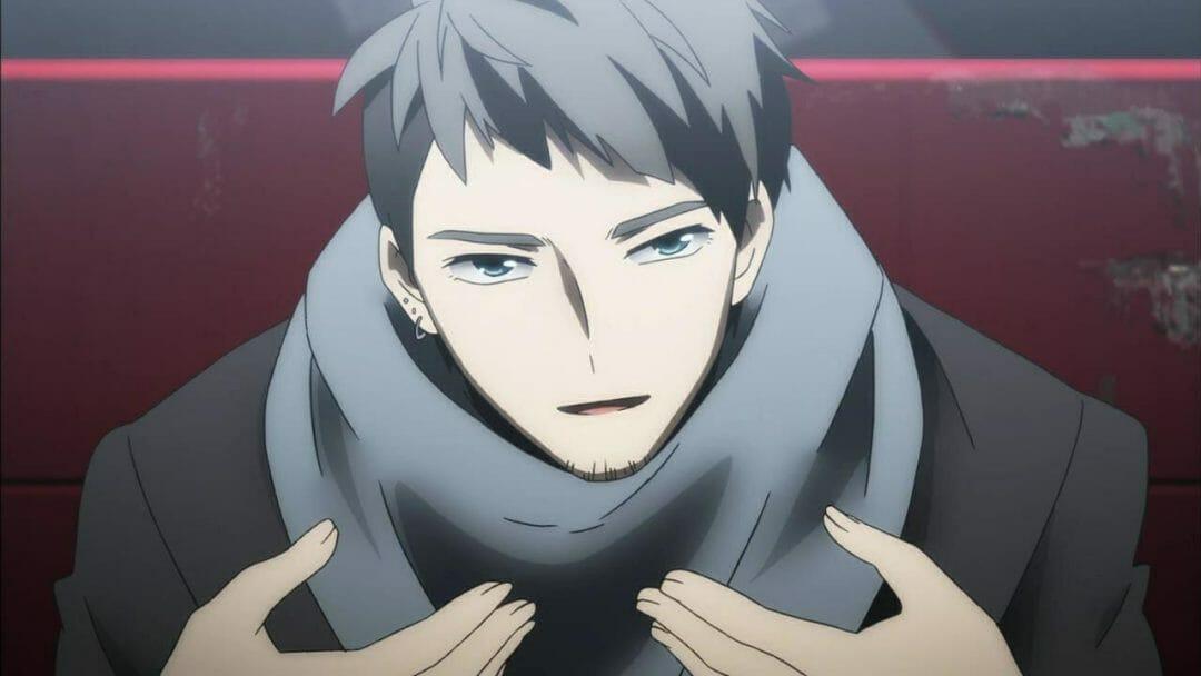 Re: Hamatora Anime Still - a man with short hear, wearing a grey scarf