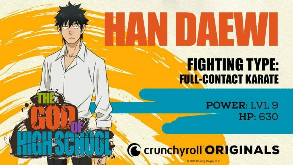 God of High School Character Visual - Daewi Han