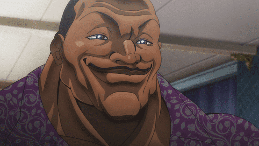 Confidently smiling headshot of Biscuit Olivia from Baki the Grappler