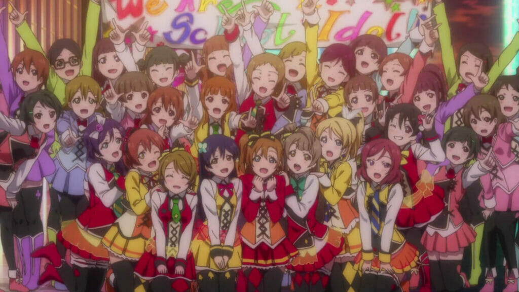 Group shot of all three Love Live groups